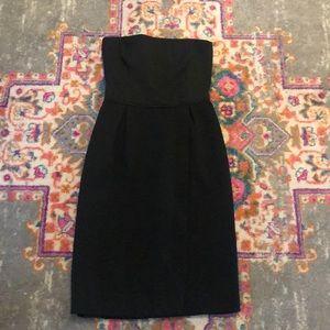 Zara textured strapless LBD cocktail dress XS